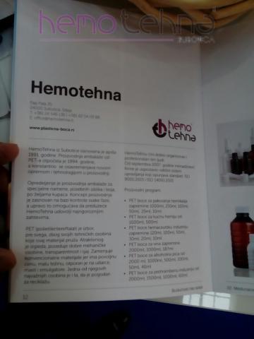 HemoTehna PET ambalaža